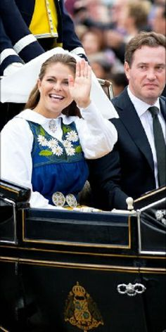 06-06-2014 Stockholm - Swedish Princess Madeleine and Cristopher O'Neill leaving the palace in Stockholm during the celebration of the National Day of Sweden