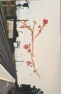 erbekk original guache painting on photography Guache, Utility Pole, Hollywood, The Originals, Illustration, Photography, Painting, Illustrations, Painting Art