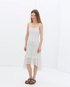 ZARA - NEW THIS WEEK - CROCHET DRESS