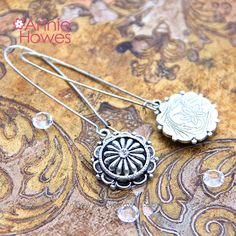 """Ornate """"Petal"""" Earrings in Antique Silver from www.anniehowes.com"""