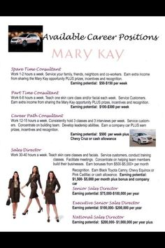 I love what I do. Mary Kay has no limits as has so much room for growth. Where all your. Dreams come true. Ask for details. www.marykay.com/dgonzalez1020