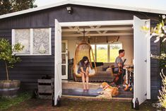 Turn your shed or outbuilding into an office or guest retreat. ~ Robyn Porter, REALTOR, Washington DC metro area 703-964-0142 #smallspaces #realestate