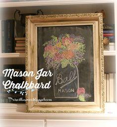 Priscillas: Mason Jar Chalkboard