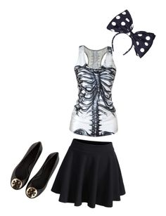The grim reaper is a girl by batgirlsupergirl on Polyvore featuring polyvore, fashion, style, Tory Burch and Kreisi Couture