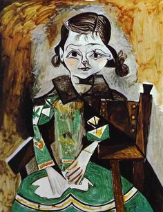 Portrait of Paloma Picasso by Pablo Picasso, 1956.  Google Image Result for http://www.staroilpainting.com/images/shop/product/d3651a53318fa5ca4f2a49f0ac89a595.jpg