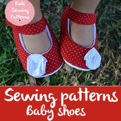 baby sewing pattern pdf/ kids clothes girls / mary jane shoes for girls / Red flat shoes for girls /  party shoes / moccs girls patterns by KidsSewingPatterns on Etsy