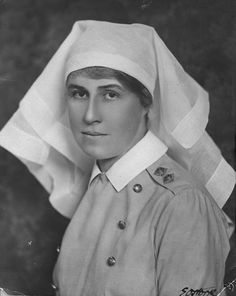 Future member of the Alberta Legislature, Lieutenant Roberta MacAdams, was a dietician stationed in England during the First World War, (Provincial Archives of Alberta, Nursing Angel, Vintage Nurse, Wwi, First World, Color Patterns, Photo S, World War, Vintage Photos, Halloween Costumes