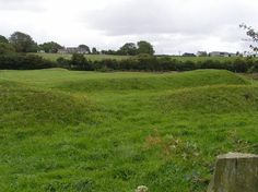 Caer Lêb, which means Leaven Castle, is a Roman earthworks - a large artificial bank of soil made as a defence in ancient times.  Situated in a wetland near Afon Braint, Caer Lêb is defined by double banks and ditches and in heavy rain, the site will still fill with water even today, proving they would have acted as a strong barrier to prevent raiders and thieves.  As part of an excavation in the mid 1800s, structures within the enclosure were discovered