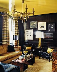 Gold adds a sense of luxury to the living room