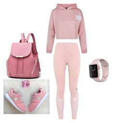 """:)"" by elkaa993 ❤ liked on Polyvore featuring beauty, adidas and New Look"