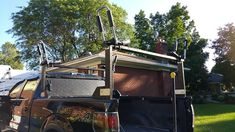 We had kayak carrying well in hand with the Sequoia. Kayak Rack For Truck, Tonneau Cover, Blue Flames, Canoe, Us Travel, Kayaking, Pocket, Projects, Diy