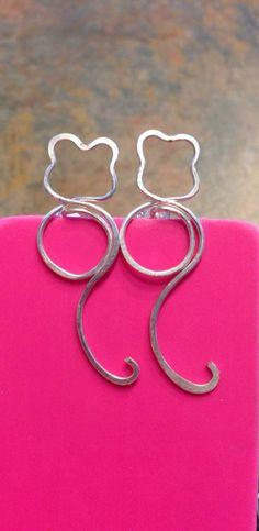 Kitty Wire Earrings on Etsy, Sold