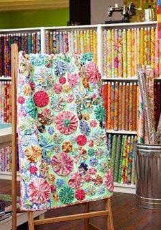 Yo Yo's Quilt ~ Sunny Texas Quilt Shop by wanda.m.feldman