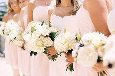 "blush bridesmaid dresses ""pink is back!"""