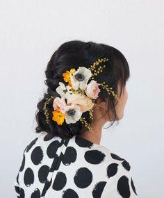 Oh Joy + Irrelephant   Pretty Floral Updo #hair #floral