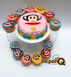 These PaulFrank Cupcakes And Cake Go Together Perfectly Wed Love One Or Three