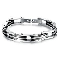 Virgin Shine Stainless Steel Long Chunk Combinations Bracelet Black VIRGIN SHINE http://www.amazon.com/dp/B00NUE0SAA/ref=cm_sw_r_pi_dp_icTRub1GAMRQZ