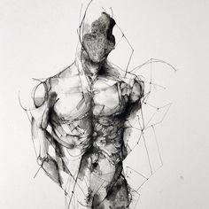 vjeranski   ericlacombe: Étude / 30x40 cm/ paper