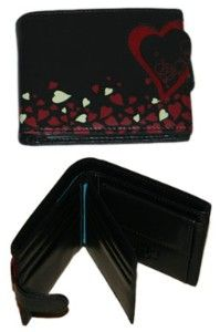 ESPE Heart Black Small Vegan Wallet