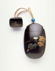 Inro by Kansai KOMA, Edo period, 19th century, Coconut shell, gold hiramakie and…