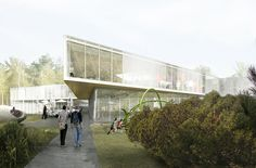 """""""Pierrefonds Library"""" Winning Entry,Courtesy of Chevalier Morales Architectes"""