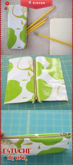 Really good zipper tutorial DIY: Oilcloth Zippered Pencil Case Sewing Hacks, Sewing Tutorials, Sewing Crafts, Sewing Projects, Sewing Patterns, Sewing Tips, Zipper Pencil Case, Pencil Pouch, Pencil Case Pattern
