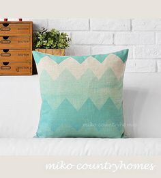 "$15.00   Geometric Chevron Art   Decorative Home Decor Pillow Cover   45x45cm 18""x18"" #homedecor #pillowcover #geometricart #geometrica #chevronpatterns #throwpillows"