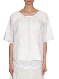 Cadel pin-tuck pleated cotton-blend top | Vanessa Bruno | MATCHESFASHION.COM US