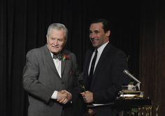 "A coveted award ... Don with Wallace Harriman (John Aniston), Season 4, Ep. 6, ""Waldorf Stories"""