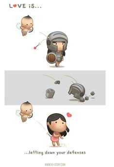 HJ-Story :: Love is… Letting down your defenses. Hj Story, Cute Couple Comics, Cute Couple Cartoon, Chibi Couple, Love Is Cartoon, Cute Love Cartoons, Cute Love Stories, Cute Love Quotes, Ah O Amor