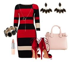 """""""Totally red"""" by taisa-cecilia-lima-caires on Polyvore featuring Burberry, Phase Eight, Aquazzura, Valentino, Rimmel and Humble Chic"""