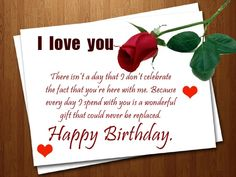 Romantic birth day wishes