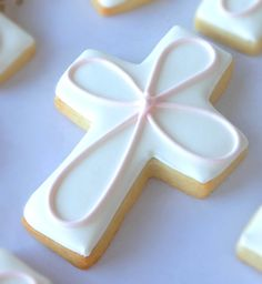 My Cookie Clinic: BAPTISM CROSS COOKIES/ First Party