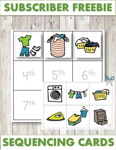 Free educational printables for preschool children Educational Activities For Toddlers, Autism Activities, Montessori Activities, Hands On Activities, Kindergarten Activities, Preschool, Sequencing Cards, Sequencing Activities, Pete The Cat Author