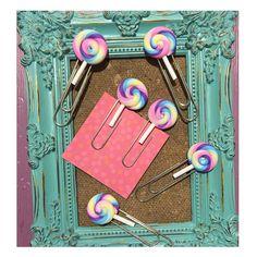 Lollipop paper clip planner paperclip lollipop by DearEve on Etsy