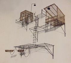 """sculpture murale """"chercheur de Silence"""" - Isabelle Bonte - de Fer est mon Fil - 2014"""