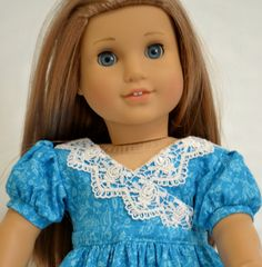 "Regency Gown: For 18"" Dolls Such As American Girl, My Life As (walmart), Our…"