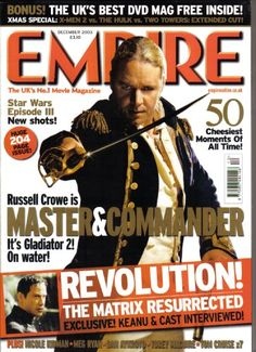 EMPIRE magazine December 2003 RUSSELL CROWE Pre-owned in very good clean condition. Please see larger photo and full description for details. Master And Commander, Russell Crowe, Movie Magazine, Large Photos, Star Wars Episodes, Event Calendar, All About Time, In This Moment, Reading