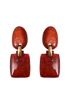 Boucles Patty, Col. Topaze #resin #denaive #earring #jewelry