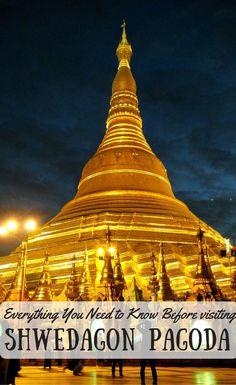 Shwedagon Pagoda at night by DrifterPlanet.com