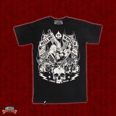 A rockin' shirt to pair up with your rockin' rod! Hell on Wheels Shirt by Liquor Brand at ruffnready.com.au #RuffnReadyaus #rockabilly #shirt #LiquorBrand #black