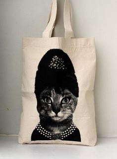 Queen Cat  Big size  Canvas tote bag/Diaper by Tshirt99 on Etsy, $19.99