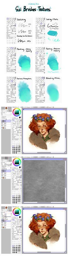 Lexxy's Sai + Brushes + Textures  lexxercise.tumblr.com