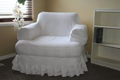 how to bleach drop cloth to use for slip covers