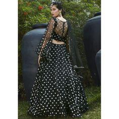 Black net metallic foil printed party wear lehenga choli Black Lehenga, Pink Lehenga, Bridal Lehenga Choli, Party Wear Indian Dresses, Party Wear Lehenga, Lace Saree, Silk Dupatta, Indowestern Lehenga, High Waisted Skirt