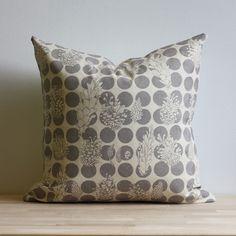 gray pinecone pillow