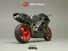 The Ducati 916 Senna :Between 1996 and to pay tribute to Ayrton Senna, Italian motorcycle manufacturer Ducati produced special Senna editions of their 916 superbike. Ducati was at the time owned by Claudio Castiglioni, a personal friend of Ayrton Sen Ducati 916, Moto Ducati, Ducati Motorcycles, Custom Motorcycles, Custom Bikes, Super Bikes, Motorcycle Manufacturers, Hot Bikes, Street Bikes