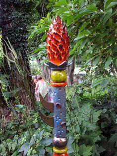 HERA Blume Gartenstele aus Keramik Nr. 5/13