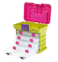 "Creative Options Grab'n Go 4-By Rack System-11""X7.25""X10"" Green & Magenta"