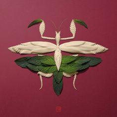 Raku Inoue Sculpted Animals with Flower Petals – Trendland Online Magazine Curating the Web since 2006 Flower Petals, Flower Art, Dragonfly Garden Decor, Composition, Nature Crafts, Flower Pictures, Doodle Art, Dried Flowers, Sculpting